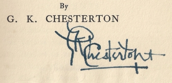 G.K. Chesterton signature