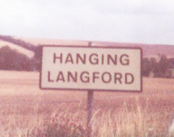 HANGING LANGFORD town sign