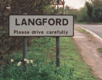 LANGFORD town sign