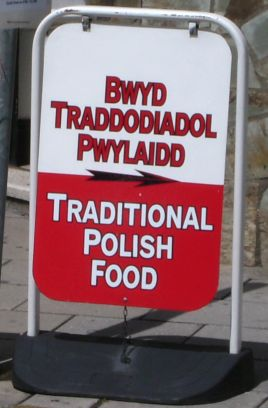 Welsh/Polish signage
